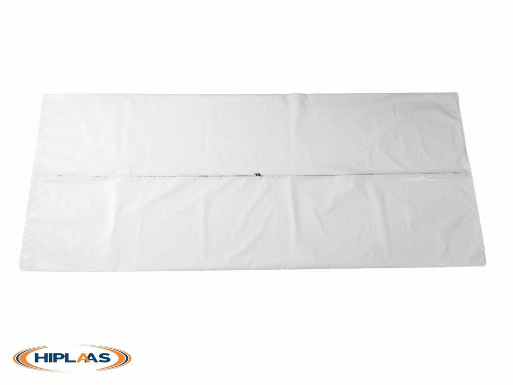 Adult Body Bag LDPE Straight Zip White | 1011-01B