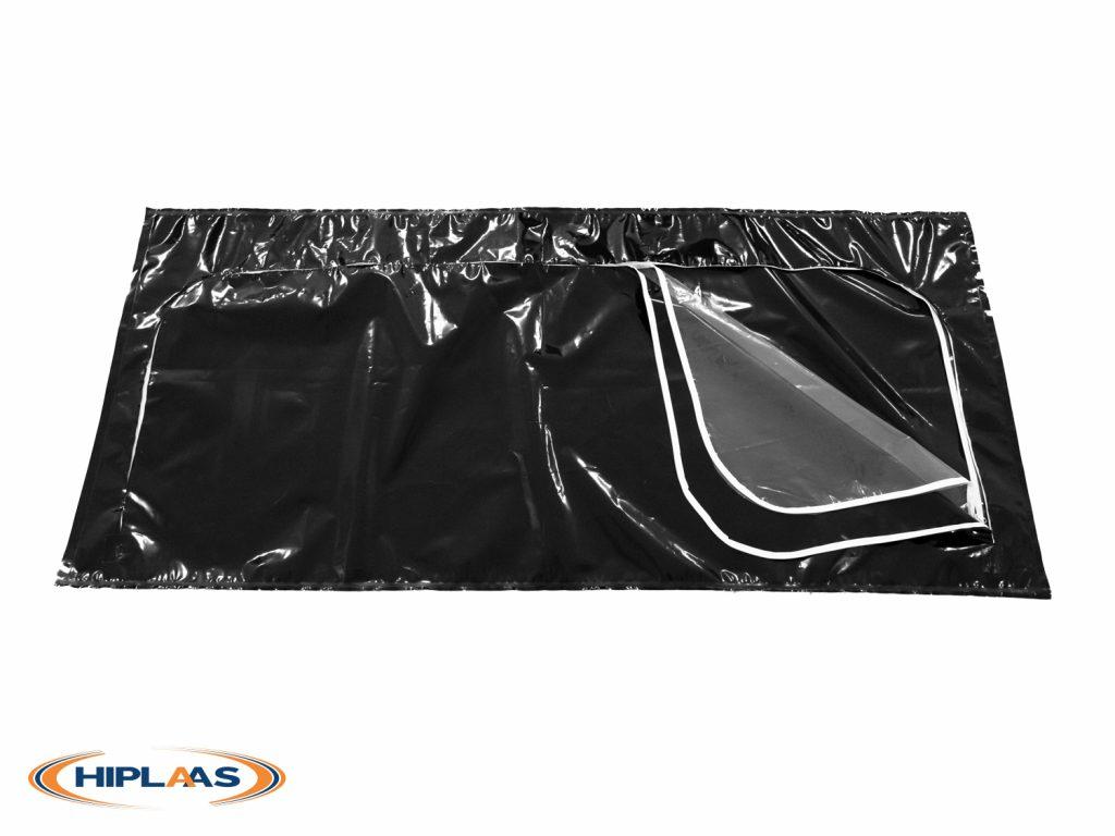 Adult Body Bag Bio-Hazard LDPE U-Shape Zip Clear View Panel | 1011-02